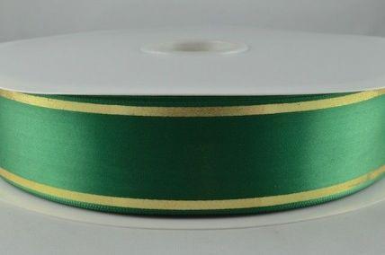 25mm & 38mm Emerald Green Satin Tramline Ribbon x 100 Metre Rolls!!