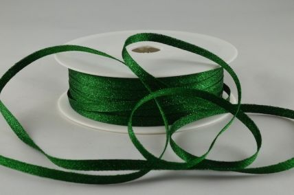 3mm Green Woven Glitter Ribbon x 20 Metre Rolls!