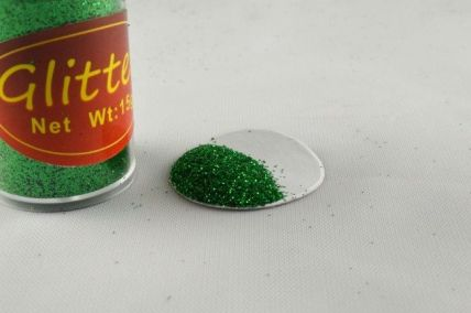 15g Pots of Colourful Green Glitter