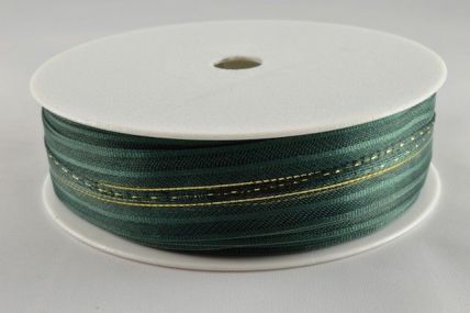 25mm Dark Green Fasbo Pull Bow Sheer Ribbon x 25 metres!!