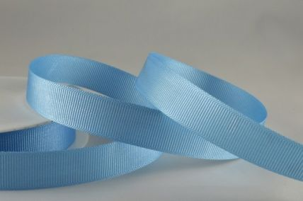 6mm, 10mm, 16mm, 22mm & 38mm Baby Blue Grosgrain Ribbon x 20 Metre Rolls!