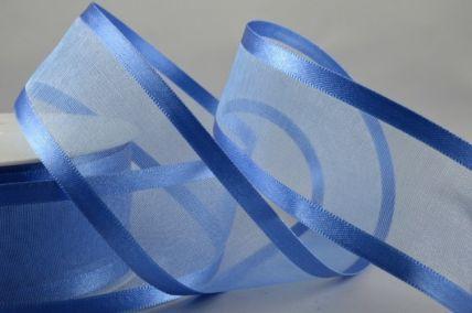 10mm, 15mm, 25mm & 40mm Blue Satin Sheer Ribbon x 25 Metre Rolls!