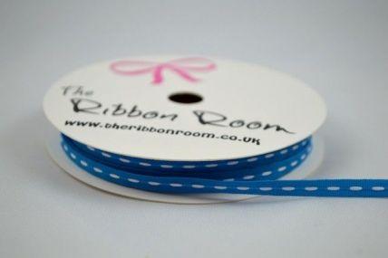 4mm Blue Dotted Stitch Ribbon x 5 Metre Rolls!!