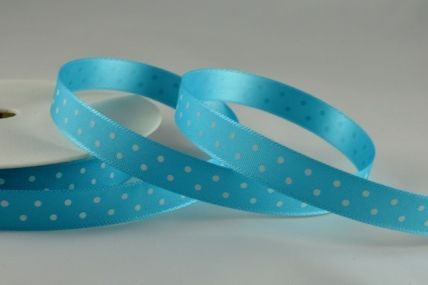 10mm Blue Polka Dot Ribbon x 20 Metre Rolls!!