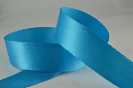 15mm, 25mm & 38mm Aqua Blue Single Faced Satin Ribbon x 100 Metre Rolls!