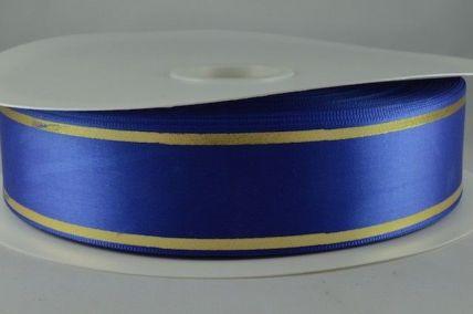 25mm & 38mm Royal Blue Satin Tramline Ribbon x 100 Metre Rolls!!