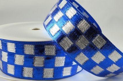 38mm Blue Woven Lurex Ribbon x 20 metre rolls!!