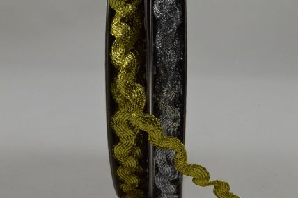 6mm Lurex Zig Zag Design x 10 Metre Rolls!!