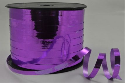 5mm Purple Metallic Polypropylene Curling Ribbon x 250 Metre Rolls!