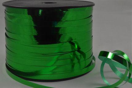 5mm Emerald Green Metallic Polypropylene Curling Ribbon x 250 Metre Rolls!