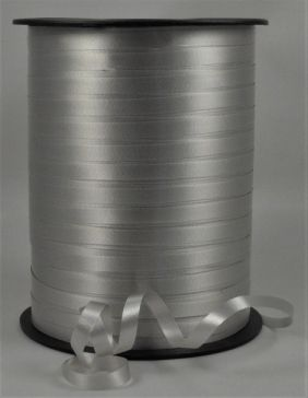 5mm Silver Polypropylene Curling Ribbon x 500 Metre Rolls!!