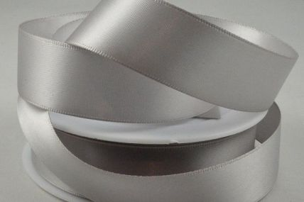 50mm Light Silver Double Sided Satin Ribbon x 100 Metre Rolls!