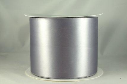 100mm Silver Single Sided Satin Sash ribbon x 50 metre rolls!!