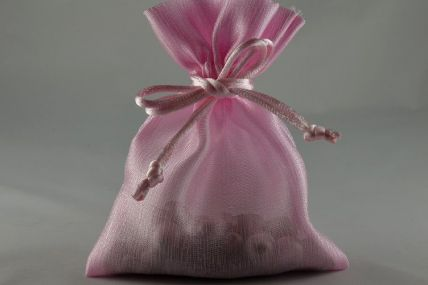 Pack of 6 Baby Pink Coloured Satin bags