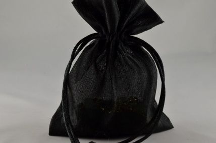 Pack of 6 Black Coloured Satin bags