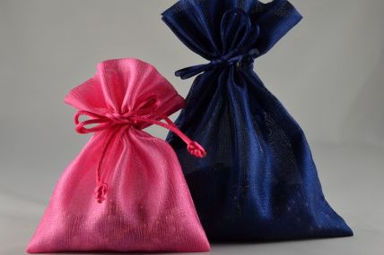 Pack of 6 Coloured Satin bags with Tassels