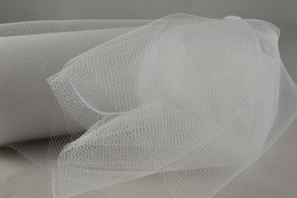 150mm White Nylon Tulle Fabric x 10 Metre Rolls!!