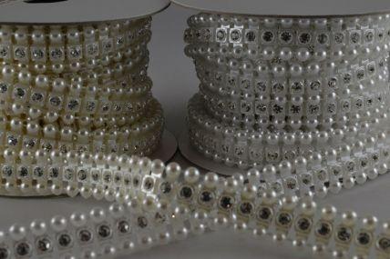 12mm Acrylic Crystal Diamante Strip x 3 Metre Rolls!!