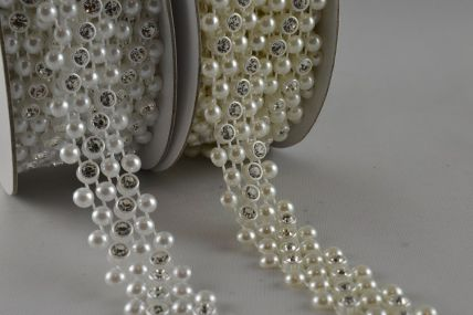 14mm Beads with Small Crystals x 3 Metre Mesh!