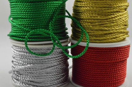 2mm Coloured Wrapping Craft Cord x 20 Metre Rolls!!