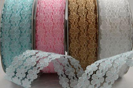 25mm Triple Flowered Lace Design x 10 Metre Rolls!!