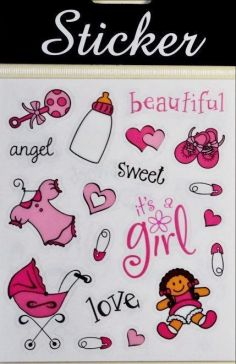Pink Baby Crafting Stickers
