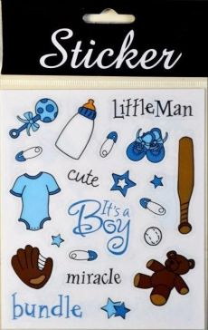 Blue Baby Crafting Stickers
