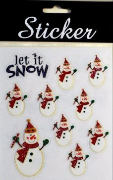 Let is Snow / Snowmen Stickers