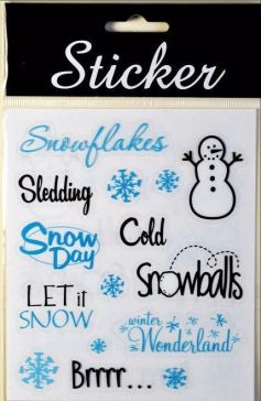 Christmas Snowday Stickers