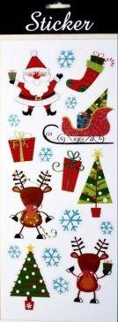88093 - Reindeer, Sleigh & Santa Christmas Stickers!