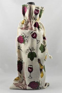 Wine, Grapes & Bottles Decorative Pouch Drawstring Bottle Bags!!