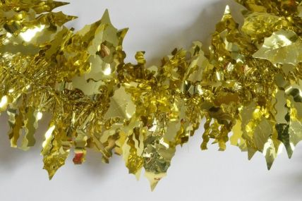 88138 - Gold Holly Leaf Tinsel x 2 Metre Lengths!