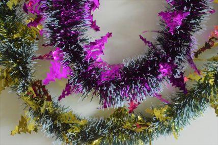Triple Coloured Christmas Tree Tinsel x 2 Metre Lengths!