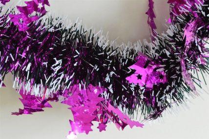 88140 - Triple Pink Christmas Tree Tinsel x 2 Metre Lengths!
