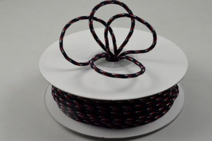 88156 - 2mm Black, White & Red Cord x 25 Metre Rolls!