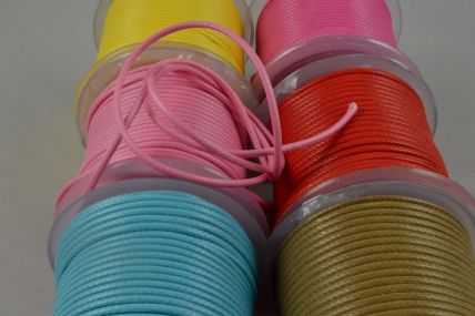 2mm Coloured Rope Waxed Cord x 25 Metre Rolls!