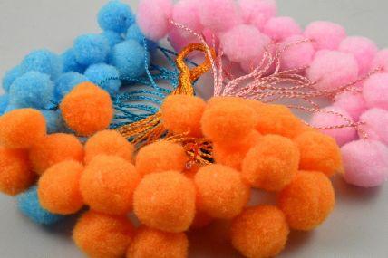 88162 - 15mm Coloured Decorative Pom Poms!