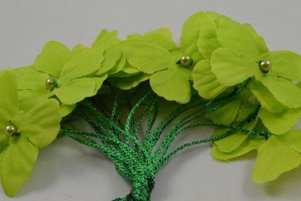 30mm Green Decorative Cord Butterflies!