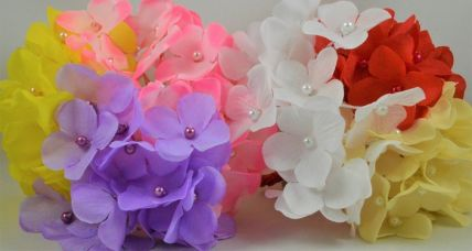30mm Coloured Decorative Cord Flowers!