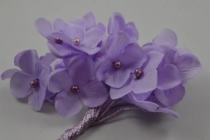 30mm Lilac Decorative Cord Flowers!