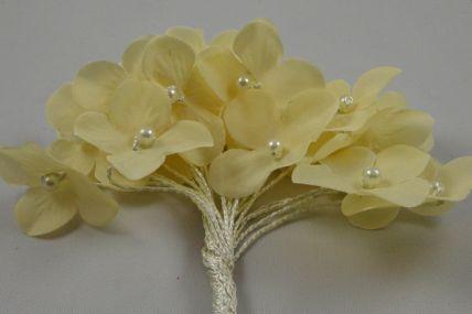 30mm Cream Decorative Cord Flowers!
