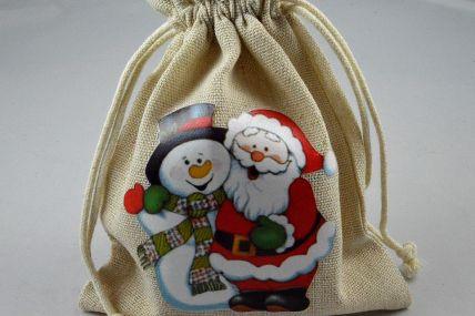 88177 - 13cm x 18cm Christmas Santa & Snowman Gift Bags (3 Bags)