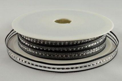 6mm Black Decorative Lurex Woven Ribbon x 20 Metres!!