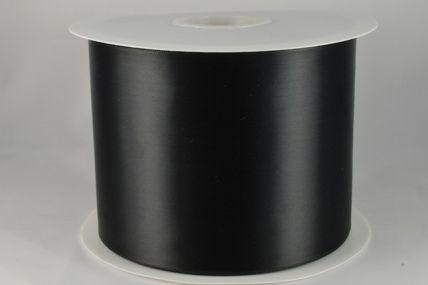 100mm Black Single Sided Satin Sash ribbon x 50 metre rolls!!