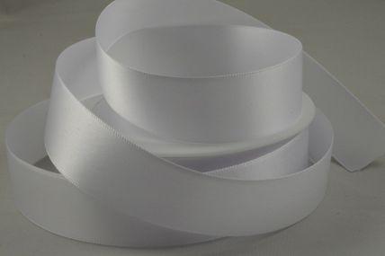 25mm White Double Faced Satin Ribbon x 25 Metre Rolls!