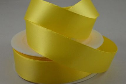 50mm Light Yellow Double Faced Satin Ribbon x 25 Metre Rolls!