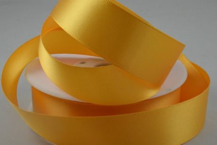 10mm Gold Yellow Double Faced Satin Ribbon x 50 Metre Rolls!