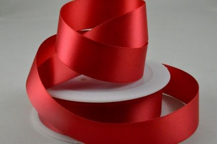 Dark Red Double Faced Satin Ribbon x 25 or 50 Metre Rolls!
