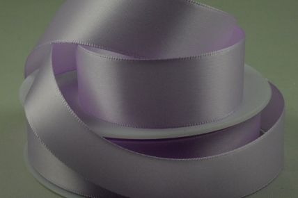 3mm, 7mm, 10mm, 15mm, 25mm, 38mm & 50mm Lilac Double Sided Satin Rolls