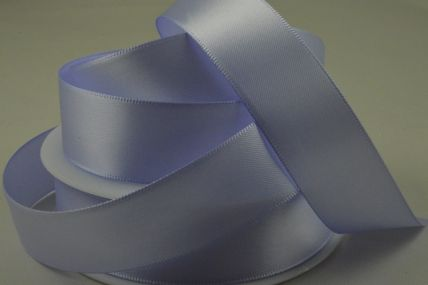 3mm, 7mm, 10mm, 15mm, 25mm, 38mm & 50mm Light Lilac Double Sided Satin Rolls!